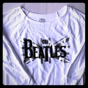 {The Beatles} - Scoop Neck Logo Sweatshirt